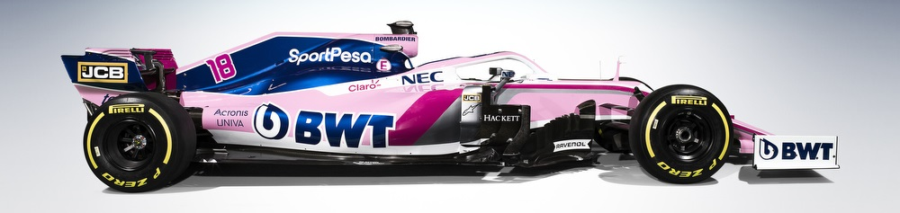 The Sport Pesa Racing Point RP19 Formula One Car