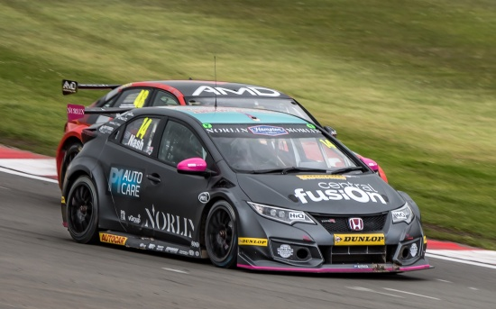 btcc team btc norlin car of driver james nash