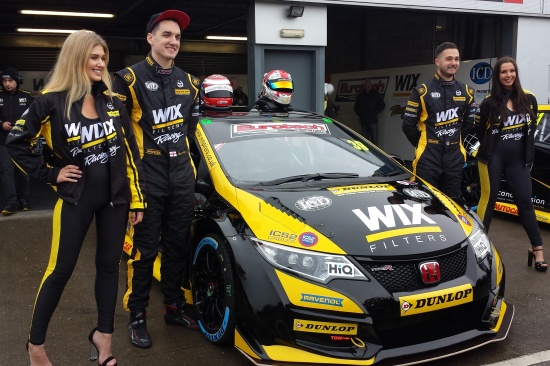 eurotech btcc team drivers brett smith and jack goff at media day donnington