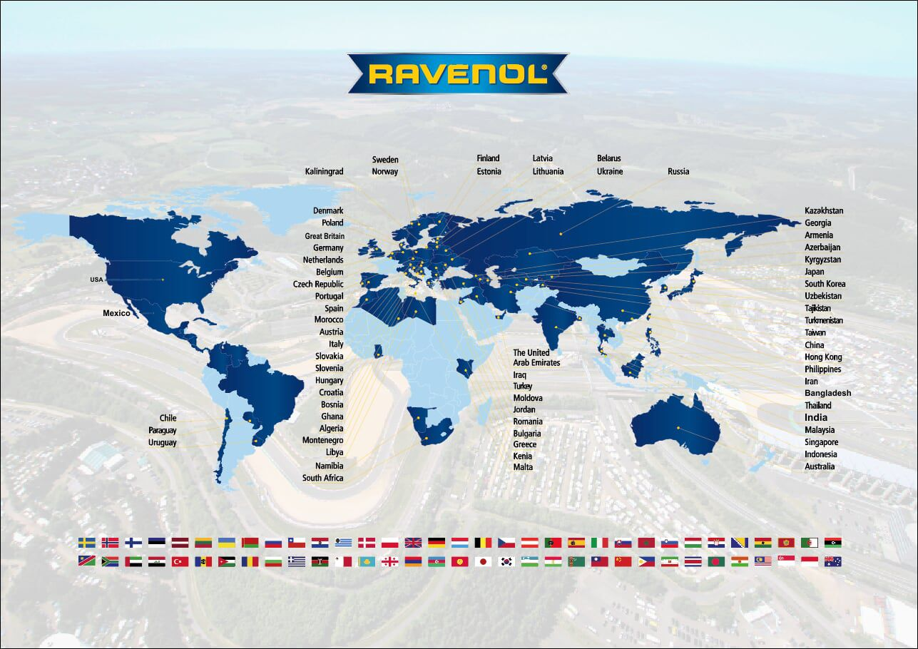 RAVENOL is in over 70 countries worldwide