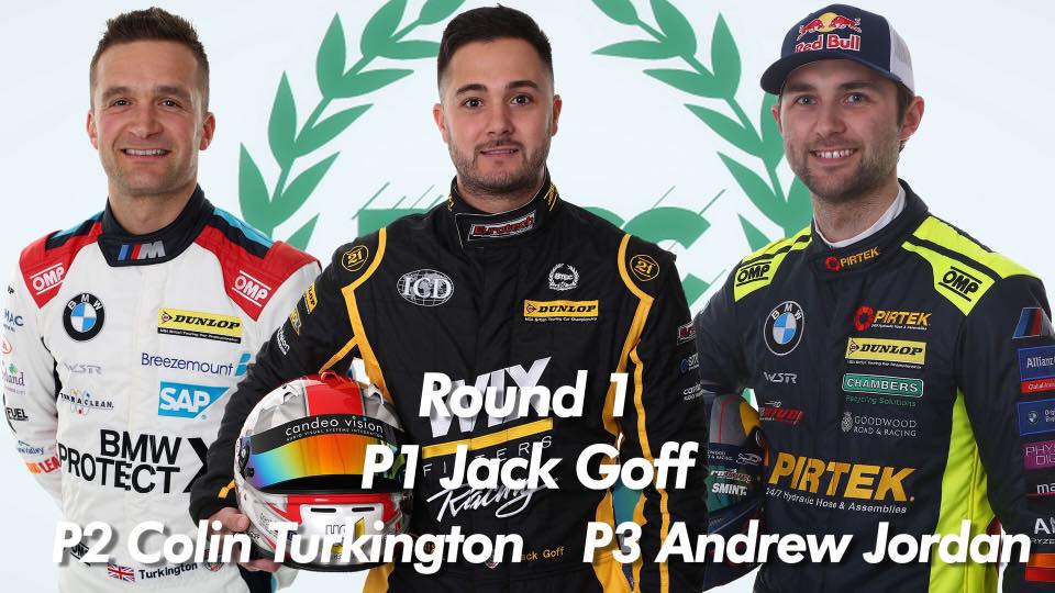eurotech btcc team driver jack goff takes opening win at brands hatch