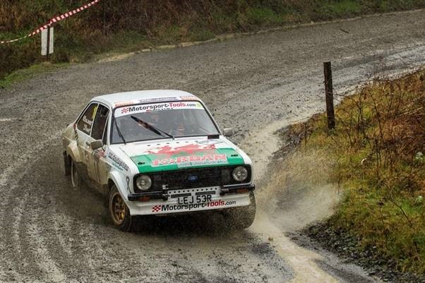 ford escort rally car on rally north wales stages