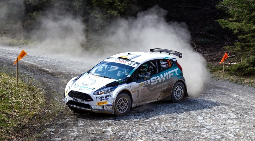 welsh rally championship leading driver matt edwards in ford fiesta wrc