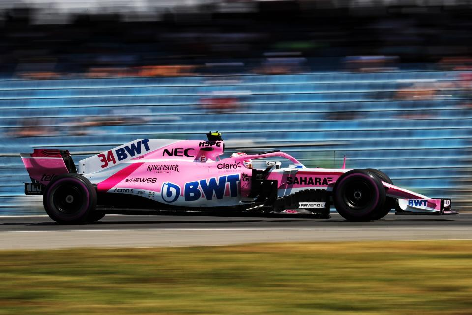 Esteban Ocon came from 14th to finish in 8th at the German Grand Prix at RAVENOL's partner circuit the Hockenheim ring
