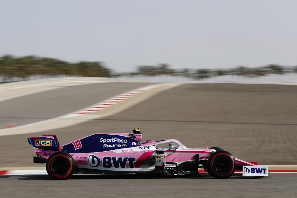 SportPesa Racing Point picked up another point at the Bahrain GP