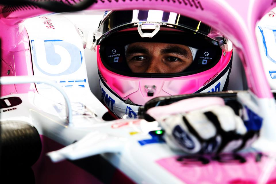 Sergio Perez didn't have the easiest of races at Silverstone